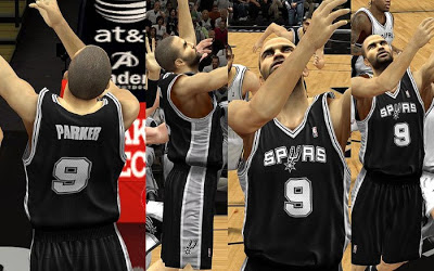 NBA 2K13 San Antonio Spurs Away Jersey