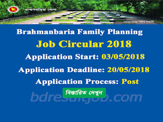 Brahmanbaria Family Planning Paid Peer Vulanteer job circular 2018