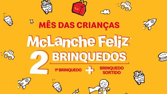 McLanche Feliz dá 2 Brinquedos no Mês das Crianças