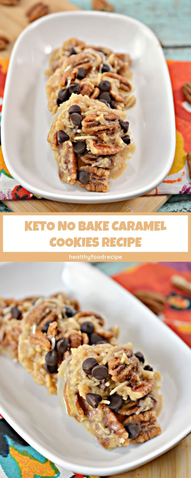 KETO NO BAKE CARAMEL COOKIES RECIPE