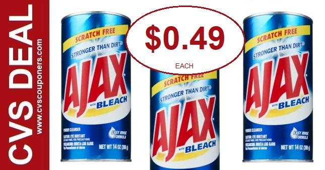 Ajax Powder Cleaner CVS Deal  8-11-8-17