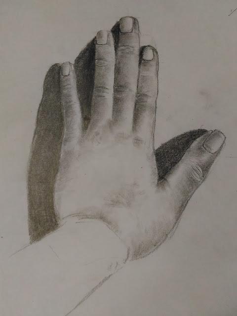 Hand pencil study