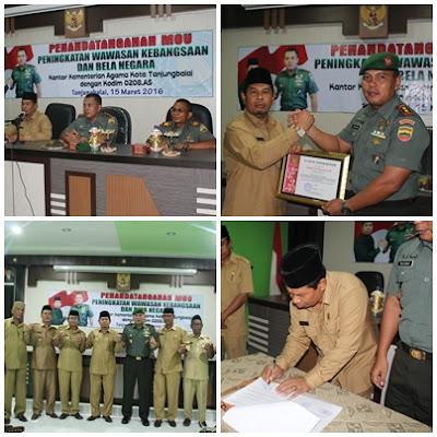Kemenag Tanjungbalai MOU Dengan Dandim 0208/AS
