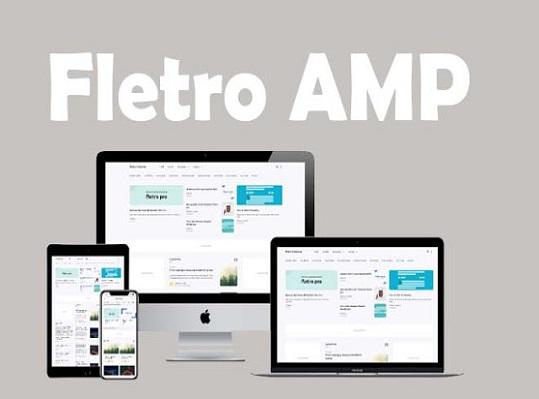 Fletro AMP Pro Responsive Blogger Template