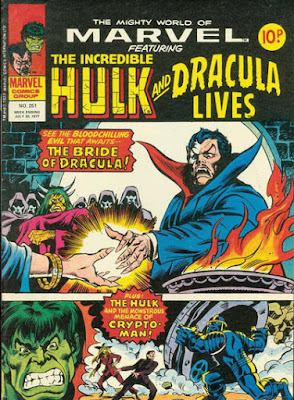 Mighty World of Marvel #251, Dracula and the Hulk