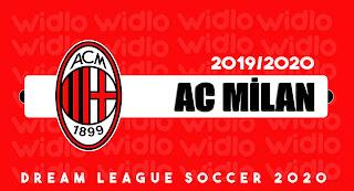 AC Milan 19/20 - DLS2020 Dream League Soccer 2020 Forma Kits ve logo