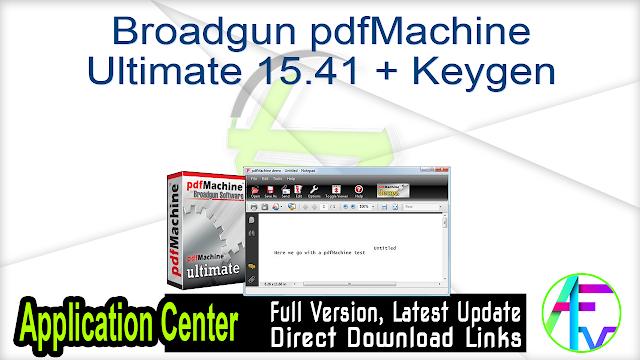 Broadgun pdfMachine Ultimate 15.41 + Keygen