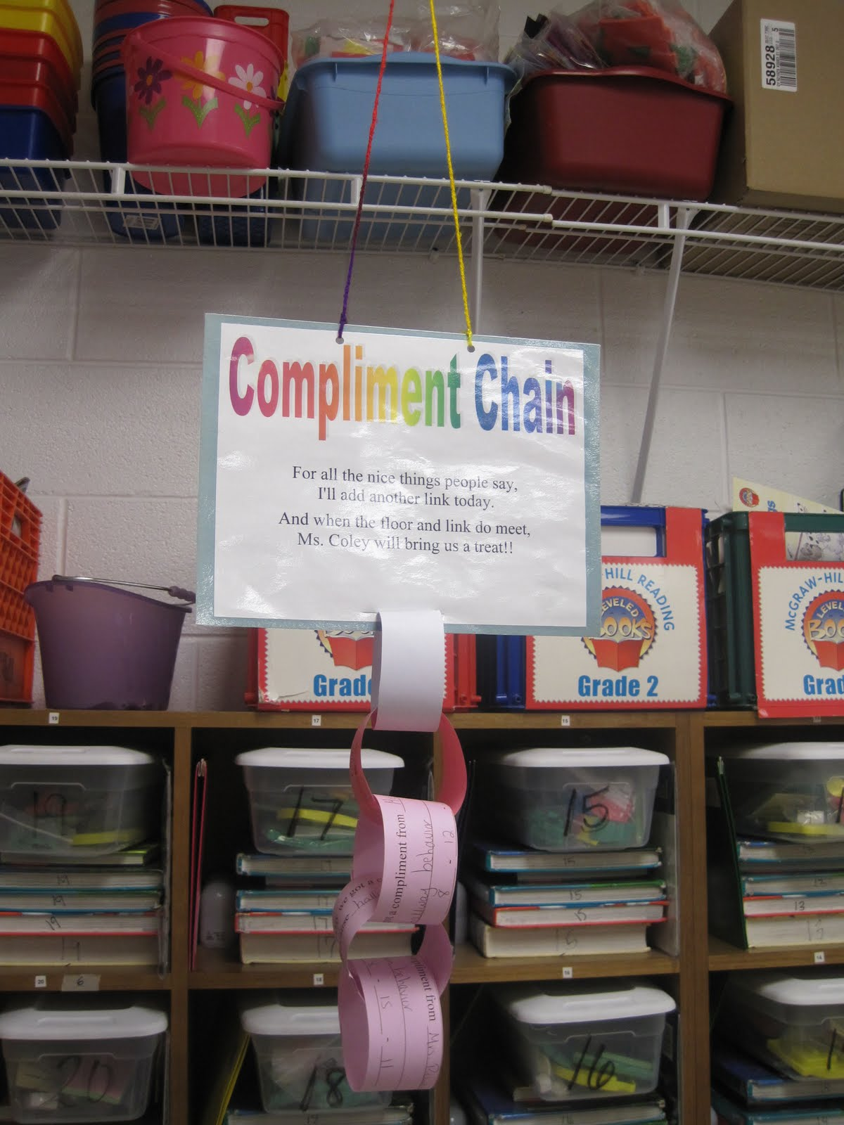 Savvy Second Graders Compliment Chain Warm Fuzzy Jar