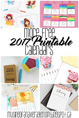 more free 2017 calendars