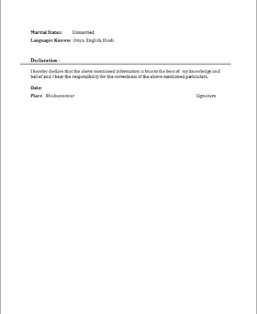 stunning resume ending declaration photos simple resume office