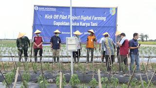 Bupati Batu Bara Canangkan Kick Off Pilot Project Digital Farming Komoditi Cabai