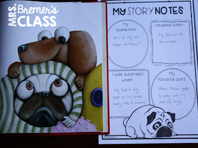 Pig the Pug book study companion activities to go with the picture book by Aaron Blabey. Perfect for whole class guided reading, small groups, or individual study packs. Packed with lots of fun literacy ideas and standards based guided reading activities. Common Core aligned. K-2 #bookstudies #bookstudy #bookcompanion #bookcompanions #picturebookactivities #1stgrade #2ndgrade #literacy #guidedreading  #pigthepug