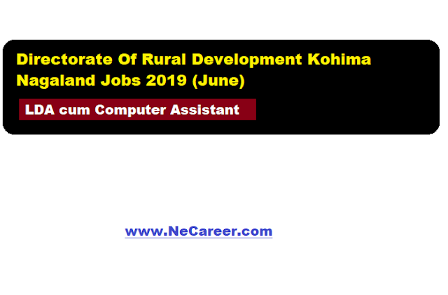 Directorate of Rural Development Kohima Nagaland Jobs 2019 (June)