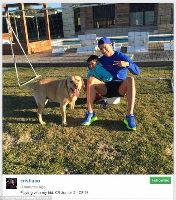 Cristiano Ronaldo and his son Cristiano Jr |