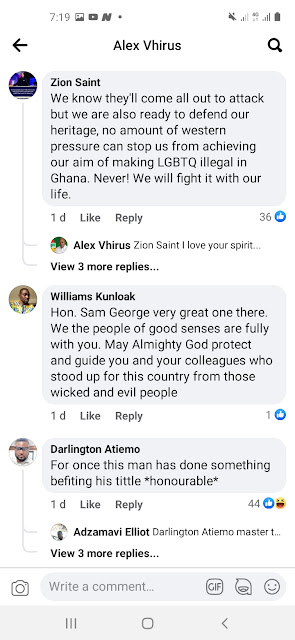 Sam George and UK politicians Reactions