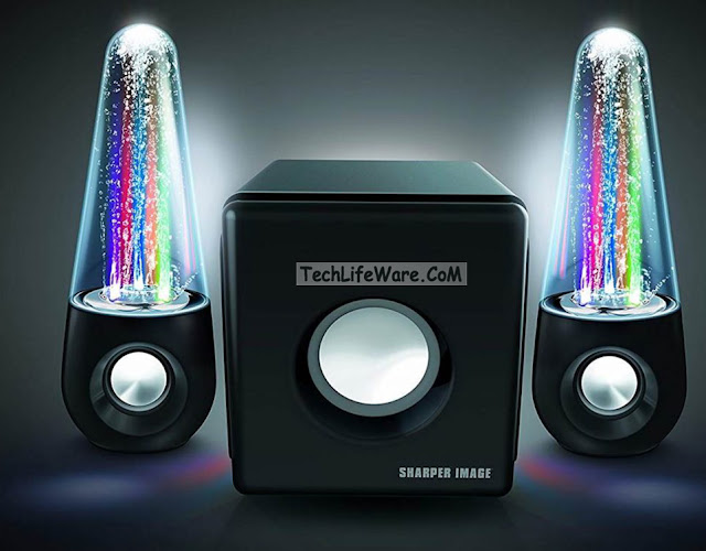 Sharper Image Bluetooth Dancing Water Speakers with Subwoofer