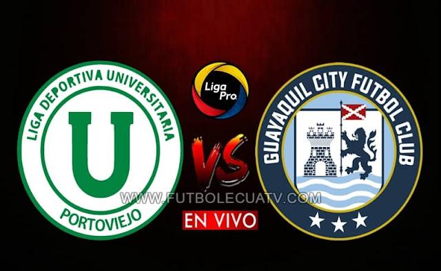Liga de Portoviejo recibe a Guayaquil City en vivo desde las 16h15 horario local, transmitido por canal GolTV Ecuador prosiguiendo la fecha siete del campeonato ecuatoriano a jugarse en el estadio Reales Tamarindos. Con arbitraje principal de Roberto Sánchez.