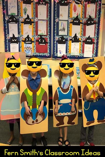 Kindergarten Week Three Themes Retelling Goldilocks and the Three Bears #FernSmithsClassroomIdeas
