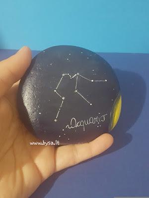 Sasso dipinto zodiaco prezzi universo