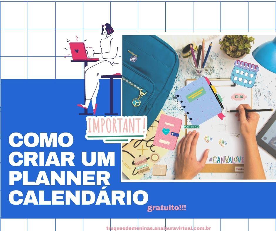 caderno inteligente personalizado usando o canva gratis planner calendario