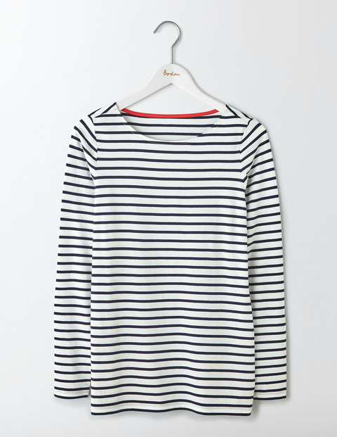 ladies long sleeve breton top