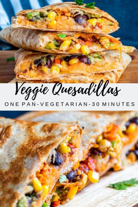 Most Delicious Vegetarian Quesadillas with Black Beans and Sweet Potato