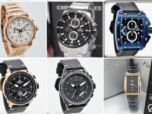 Jam tangan pria merek asli