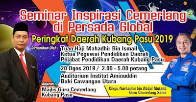 Seminar Inspirasi Cemerlang di Persada Global 2019