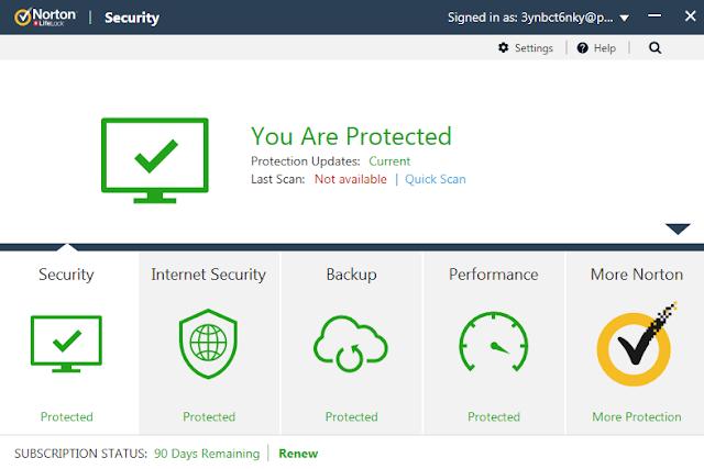 Screenshot Norton Security Premium 22.17.3.50 With Trial Reset