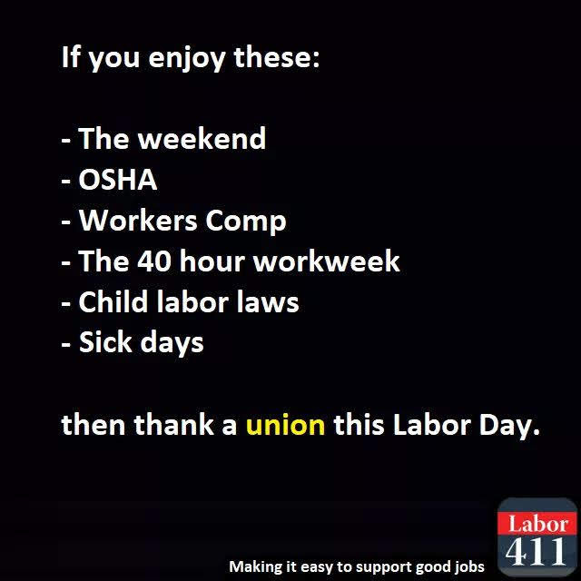 thank the unions!