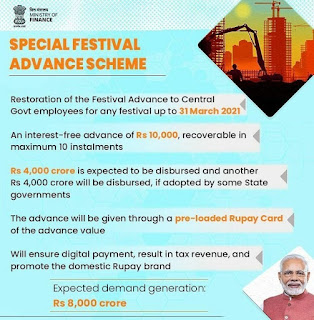 Interest free Special Festival Advance - MoF Orders