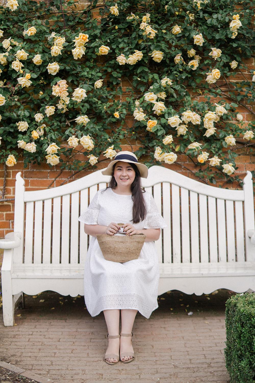 broderie-dress-ootd-Mottisfont-rose-garden-Barely-There-Beauty-blog