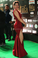 Natasha Nebasha in a Leg Slit Sleeveless Stunning Red Gown at IIFA Utsavam Awards 2017 046.JPG