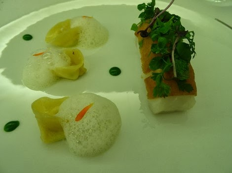 1 er plat restaurant Sur Mesure par Thierry Marx au Mandarin Oriental.