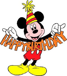 Mickey felicitando cumpleaños