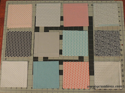 light fabrics chosen for main block design