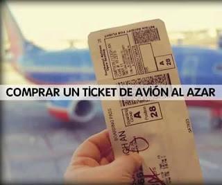 Comprar un ticket de avión al azar