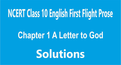 Chapter 1 A Letter to God