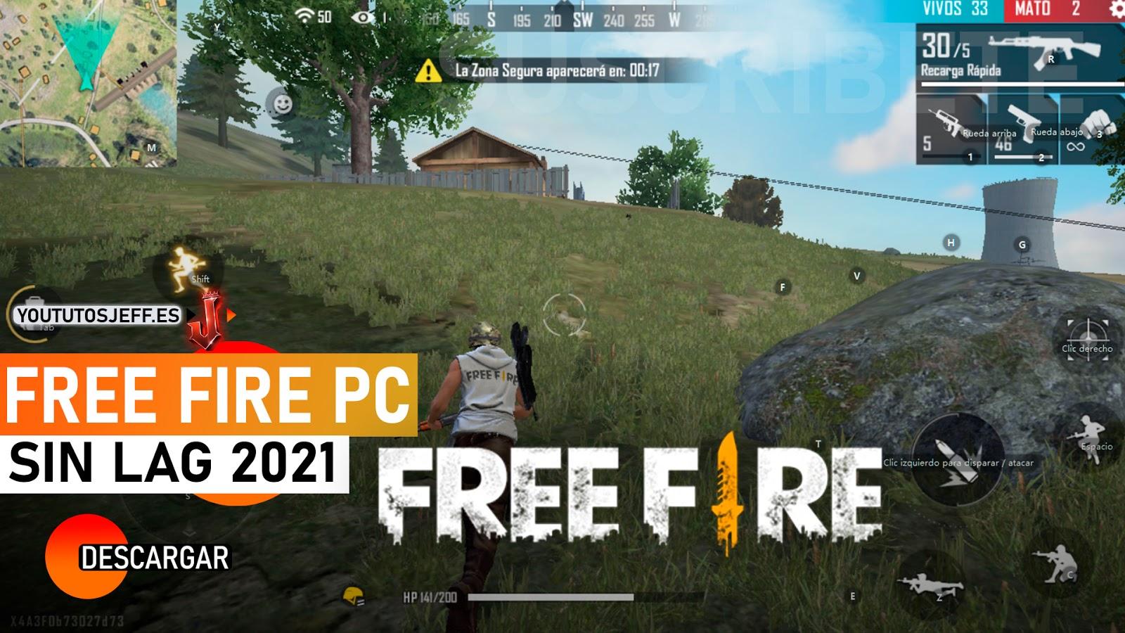 Como DESCARGAR FREE FIRE para PC 2021 SIN LAG