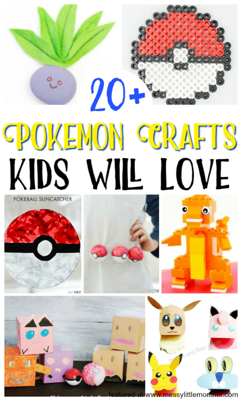Pokemon crafts for kids - over 20 fun and easy pokemon ideas