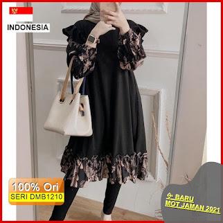 Dmb1210 Fashion Atasan Hikko Tunik Rayon Viscose Flower Rempel Premium Hits Ootd Wanita