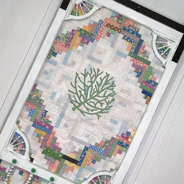 Sliding Quilted Screen Door by Thistle Thicket Studio. www.thistlethicketstudio.com