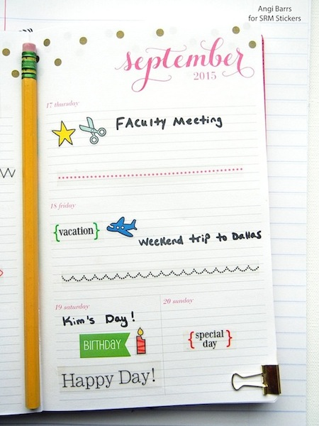 SRM Stickers Teacher Planner by Angi