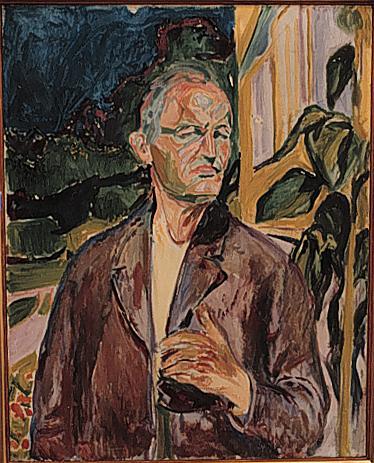 Эдвард Мунк - Автопортрет. 1926