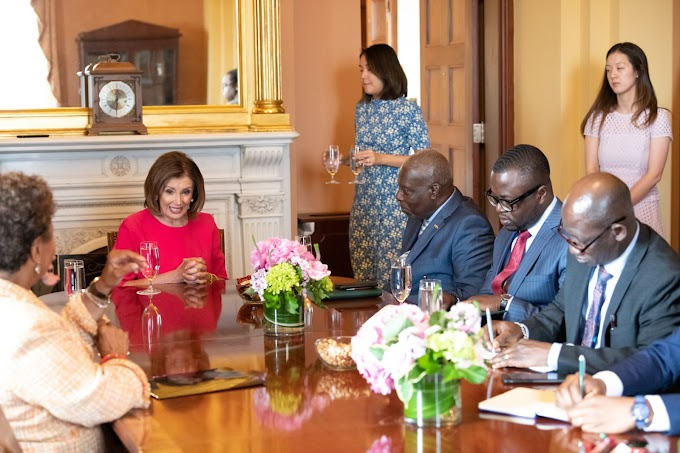 Nancy Pelosi and delegation to pay respects at Cape Coast and Elmina Castles in observing 400 years of the First Enslaved Africans Landing in America