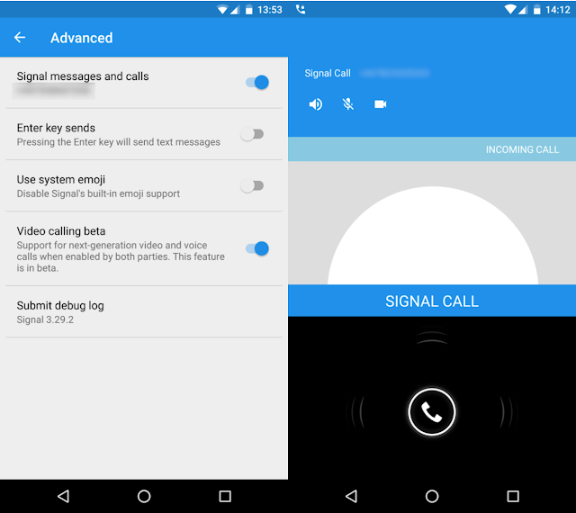 Download Signal Secure messenger beta testing for video calling
