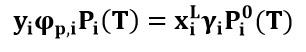 Ecuación modificada de La Ley de Raoult