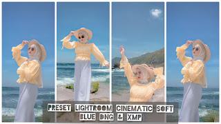 Preset Lightroom Cinematic Soft Blue Terbaru XMP & DNG
