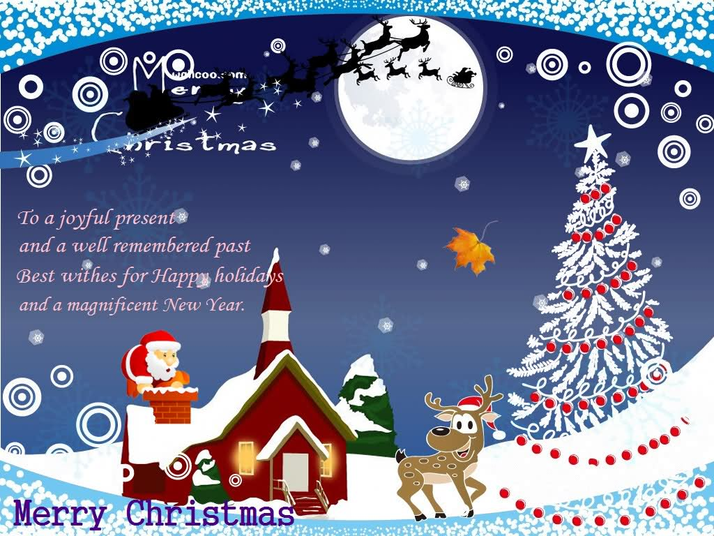 Christmas Greeting Cards And Happy New Year Ucap Natal