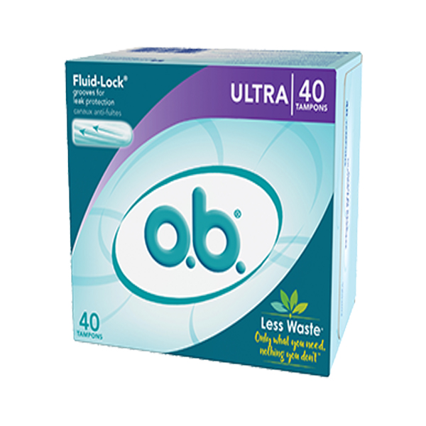 o.b. Original Non-Applicator Ultra Tampons